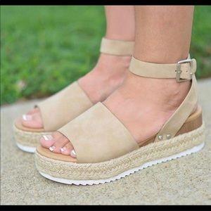 SODA brand Wedge sandal